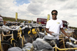 BMX Champion Sifiso Nhlapo was also on hand