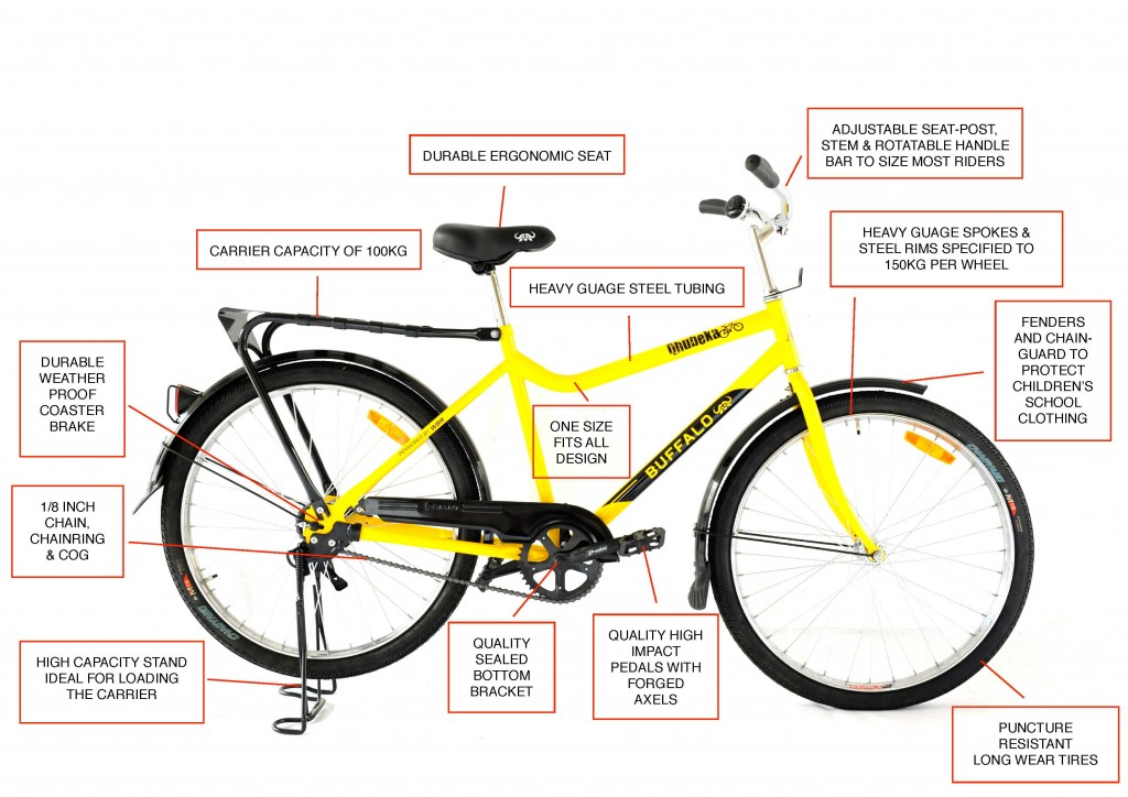 Qhubeka Buffalo Bicycle Diag