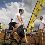 Andy Stauff tests the Qhubeka buffalo bike