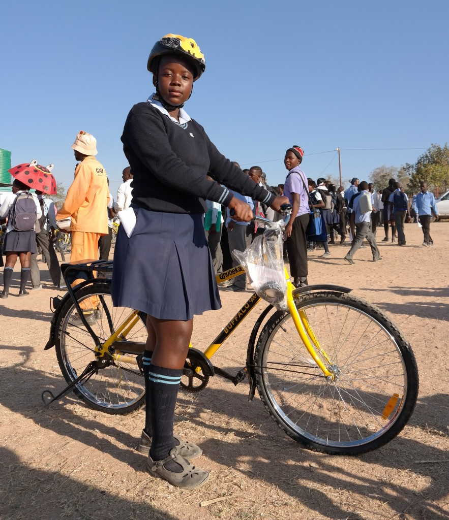 Girl with a bicycle in limpopo