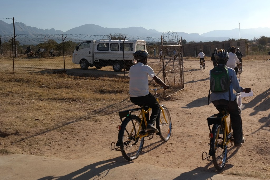 Cycling commute in South Africa