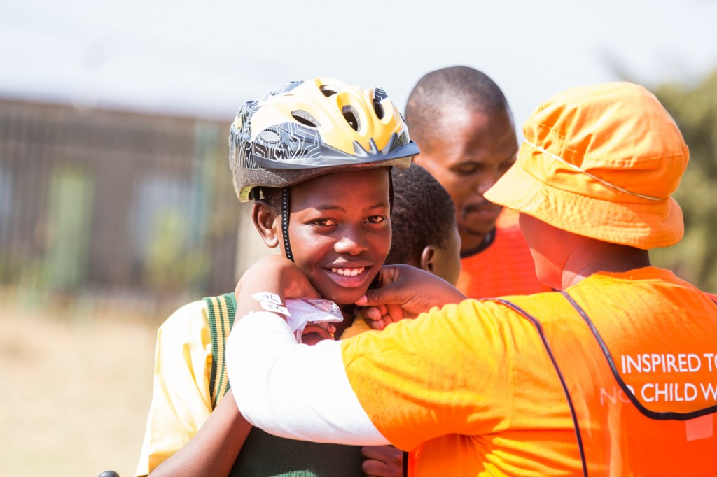 The children earn their bicycles through our study2own programme. This means prior to accepting the bicycle they sign a contract with World Vision and the school committing to increasing their school attendance over a period of two years in exchange for keeping the bicycle.