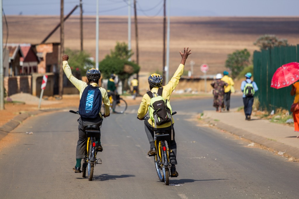 We love seeing the joy of recipients as they experience the freedom a bicycle can bring.