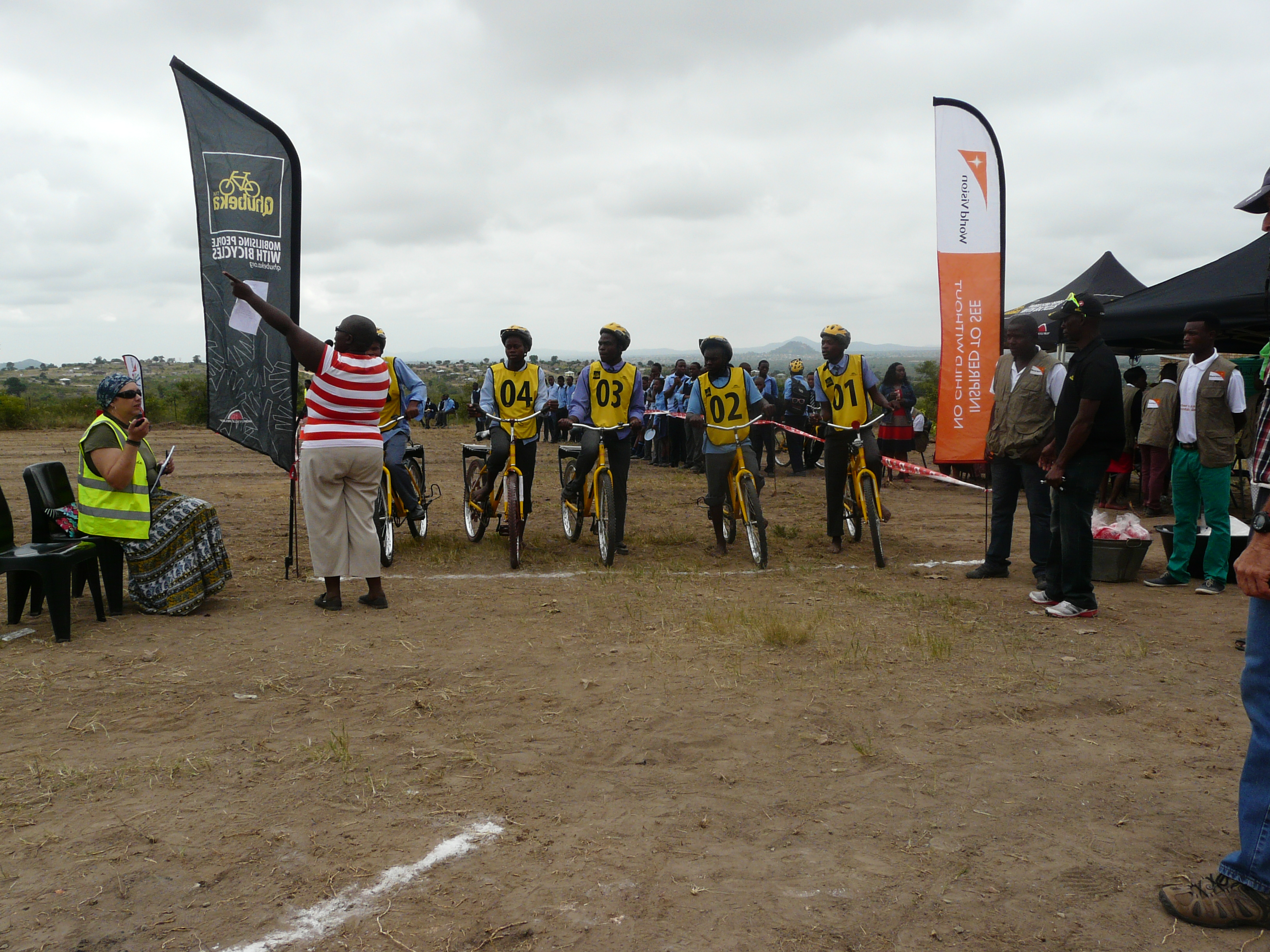 On the starting line, CSA Community Cycling Series, Limpopo