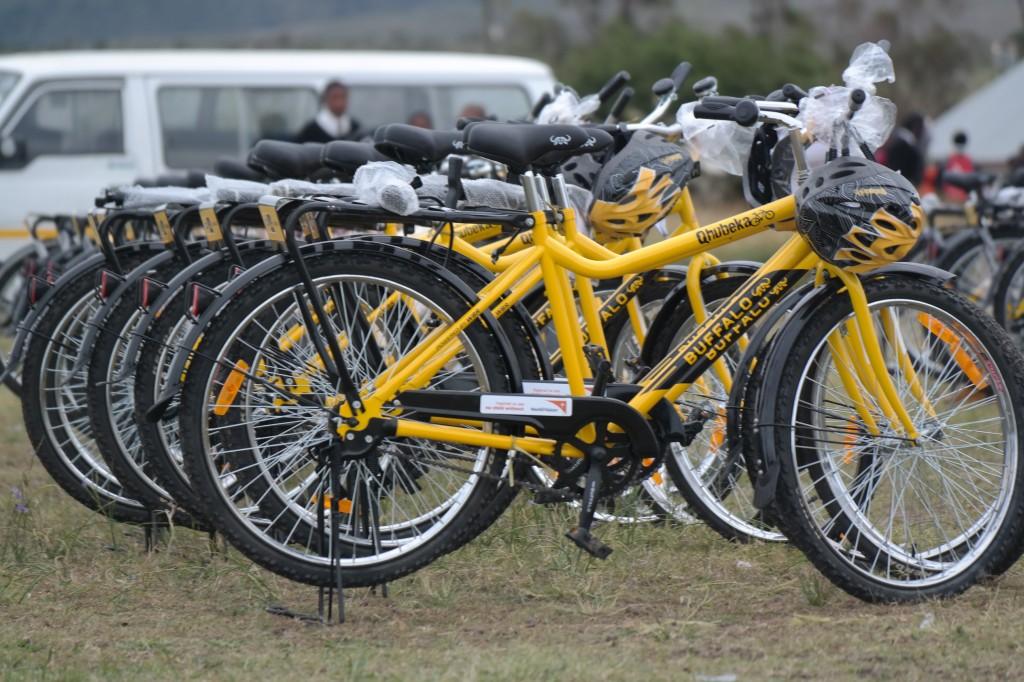 Bikes at handover