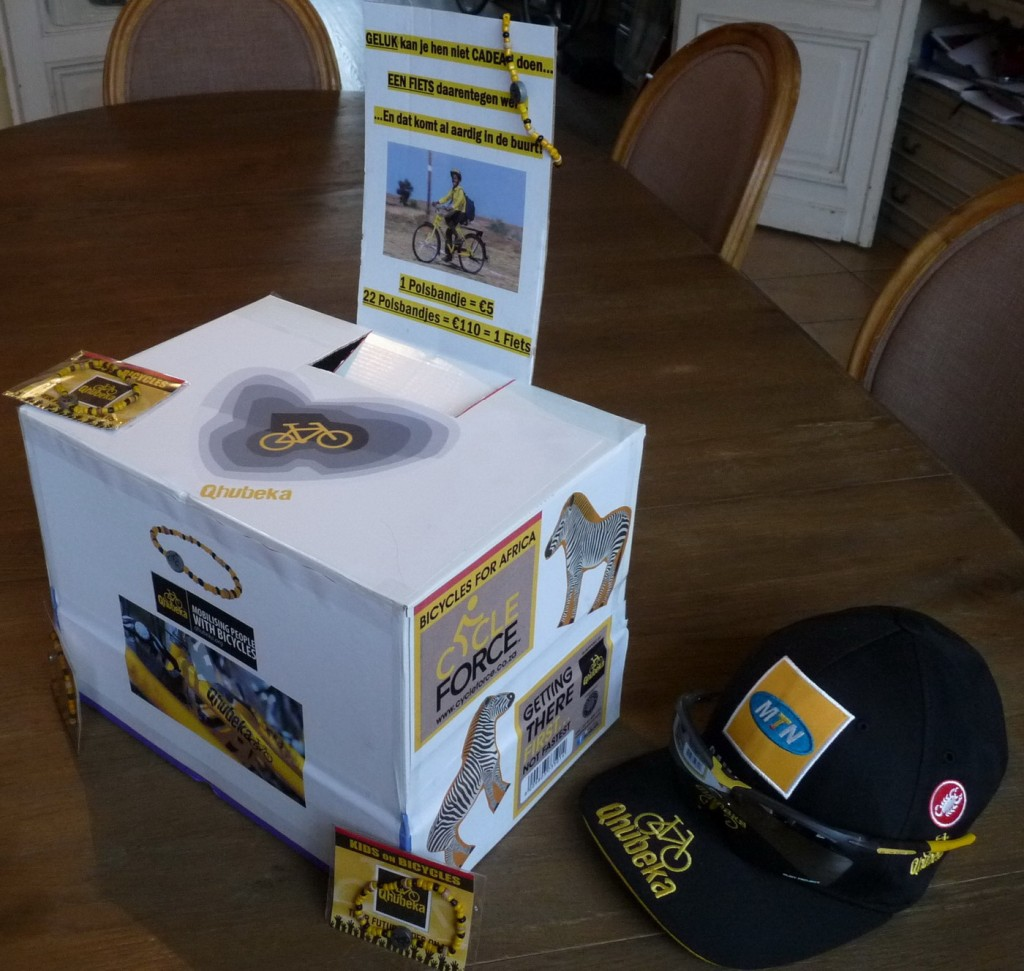 "One of Paul's Qhubeka ""bike boxes"""