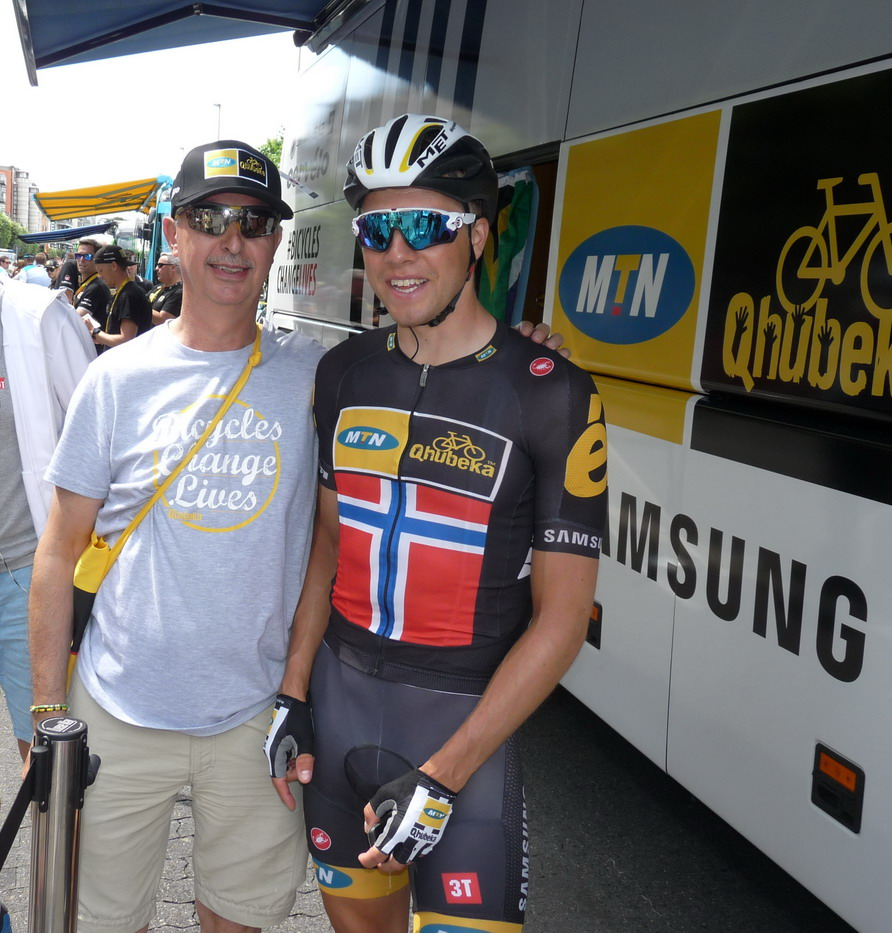 TdF - Antwerp 06.07.2015 - Meeting Edvald Boasson Hagen
