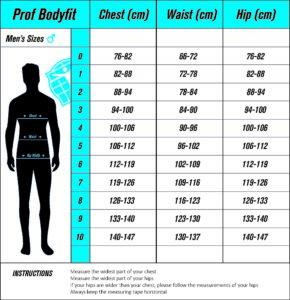 Prof Bodyfit Men Sizechart_with instructions